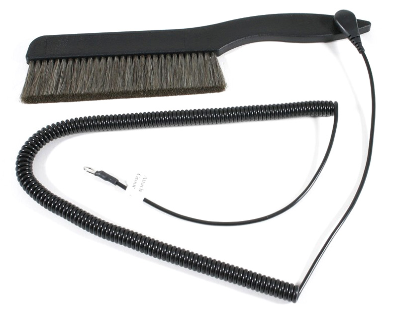 AcousTech 5.5 inch Anti-Static Record Brush with Grounding Wire